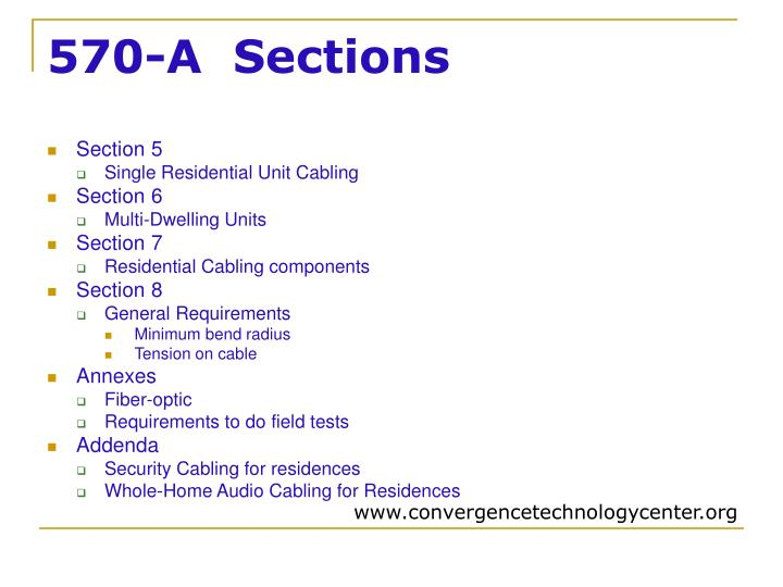 570-A  Sections