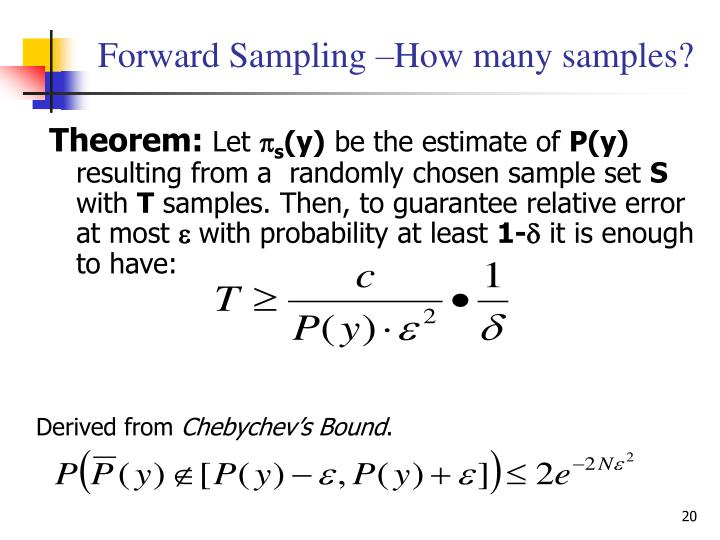 Forward Sampling –How many samples?