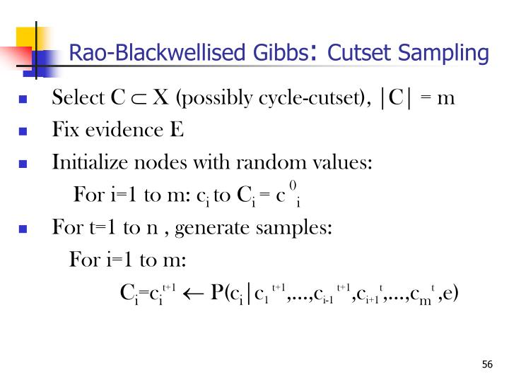 Rao-Blackwellised Gibbs