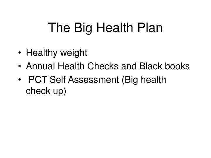 The Big Health Plan