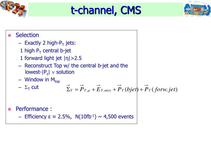 t-channel, CMS