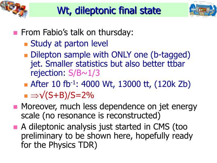 From Fabio's talk on thursday: