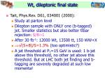 wt dileptonic final state1