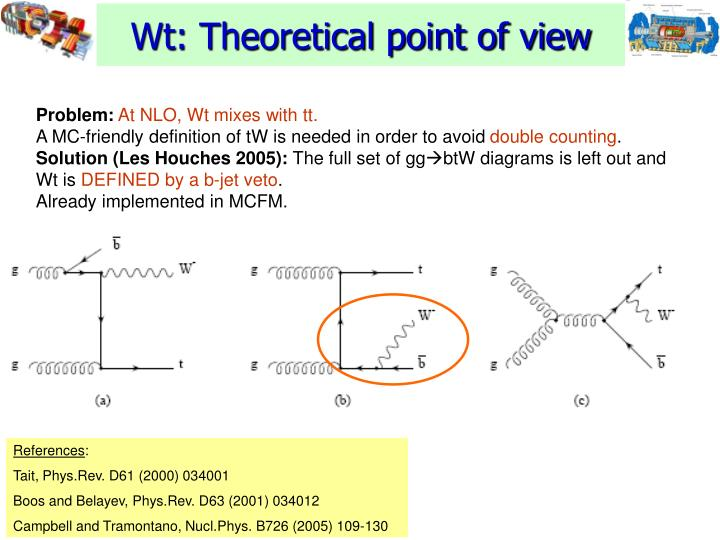 Wt: Theoretical point of view