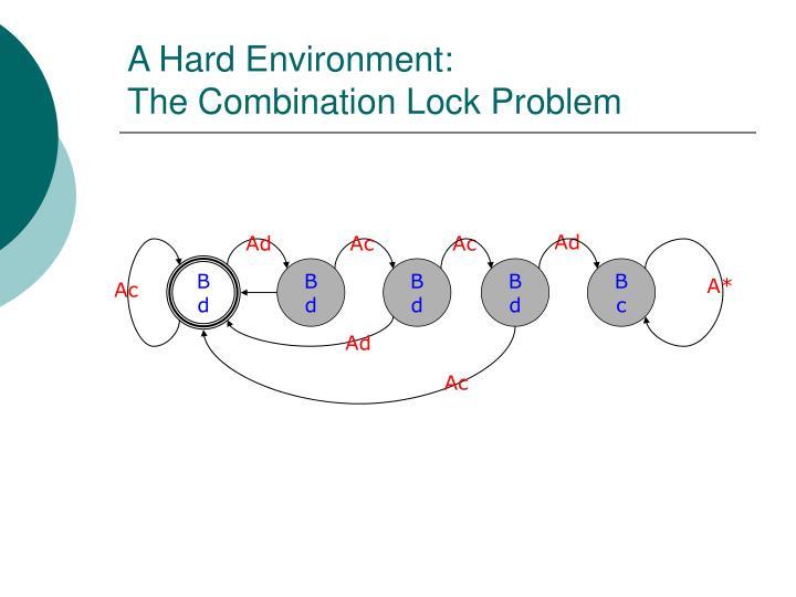 A Hard Environment: