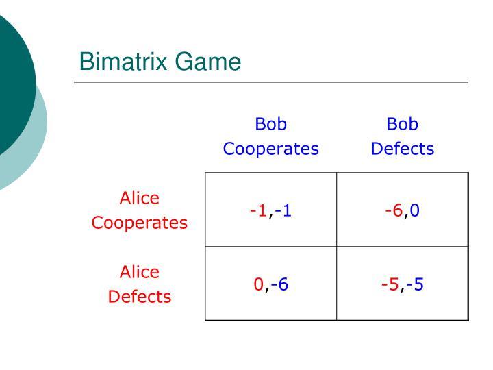 Bimatrix Game