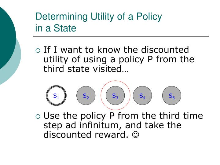 Determining Utility of a Policy