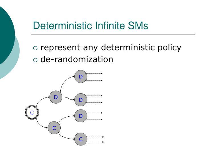 Deterministic Infinite SMs