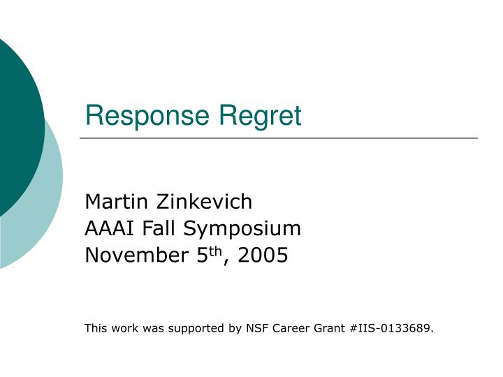 response regret