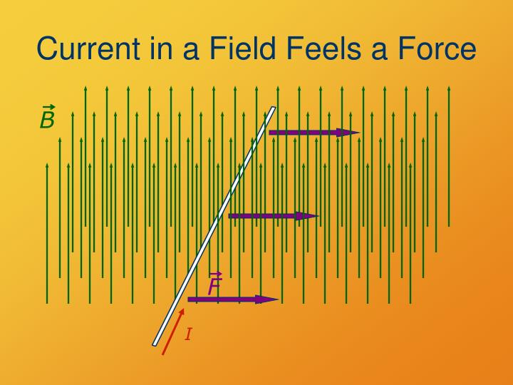 Current in a Field Feels a Force