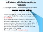 a problem with distance vector protocols
