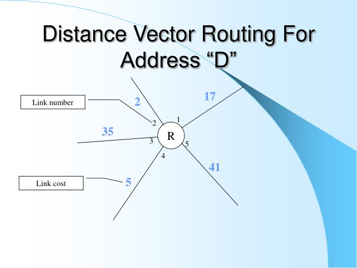 """Distance Vector Routing For Address """"D"""""""