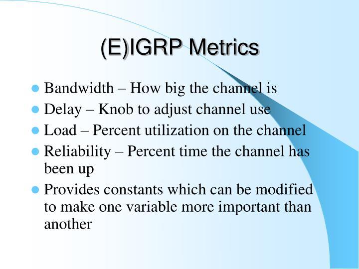 (E)IGRP Metrics