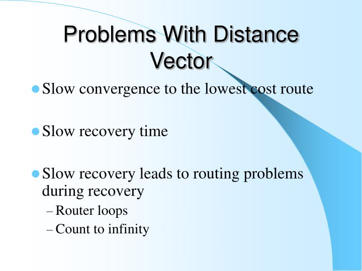 Problems With Distance Vector