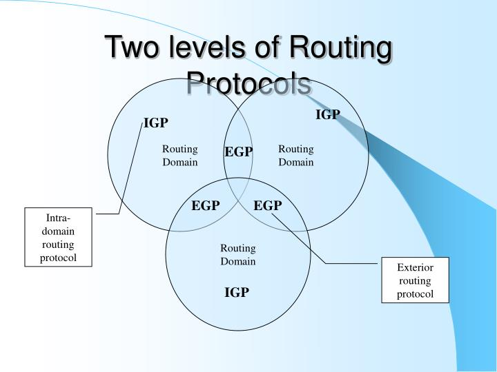 Two levels of Routing Protocols