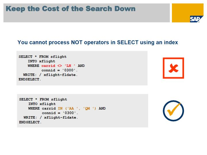 Keep the Cost of the Search Down