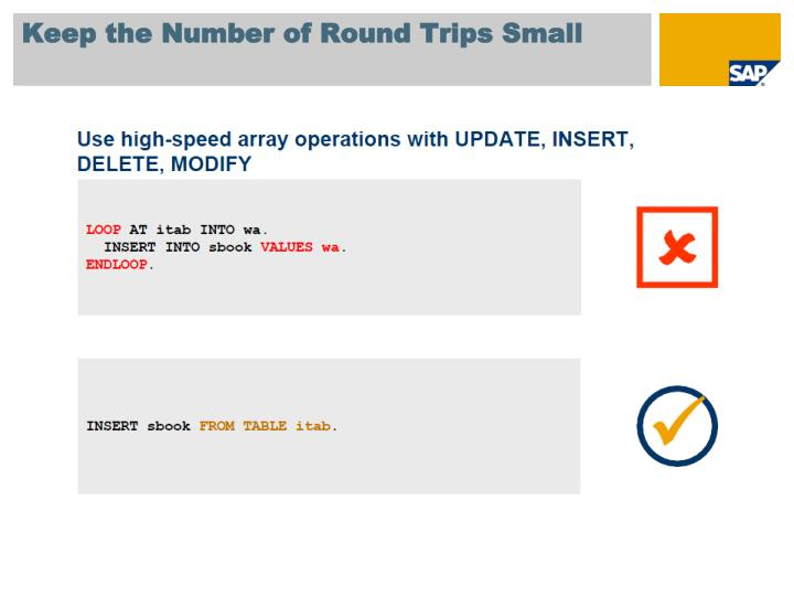 Keep the Number of Round Trips Small