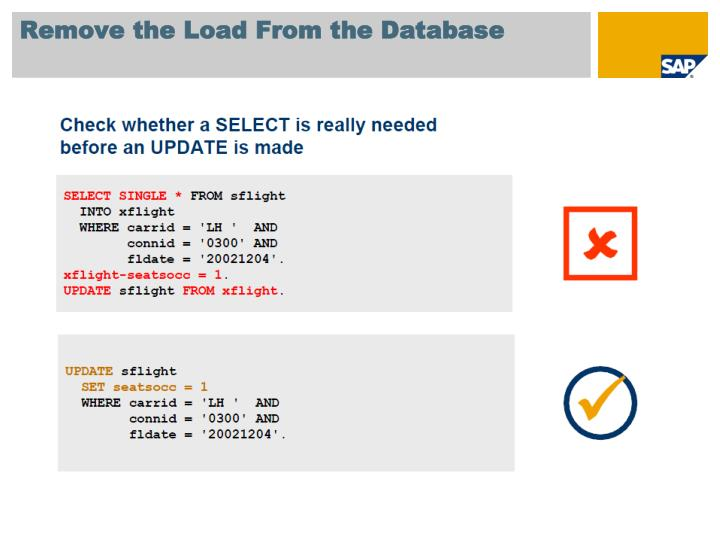 Remove the Load From the Database