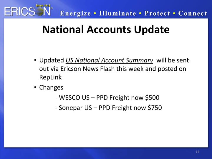 National Accounts Update