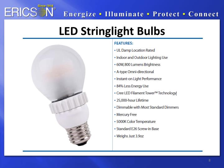 LED Stringlight Bulbs