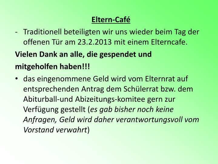 Eltern-Café