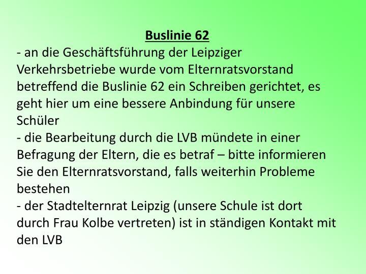Buslinie 62