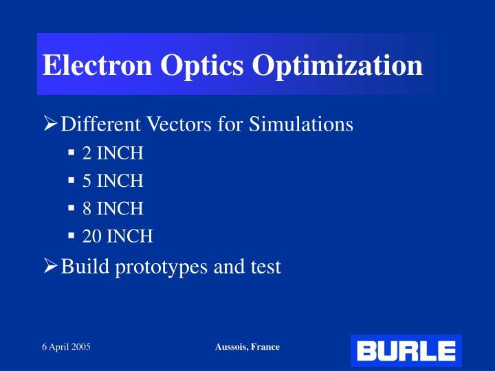 Electron Optics Optimization