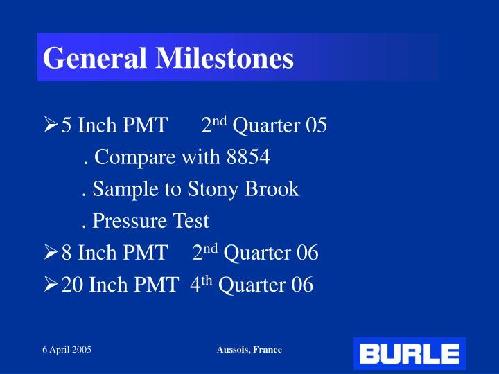 General Milestones