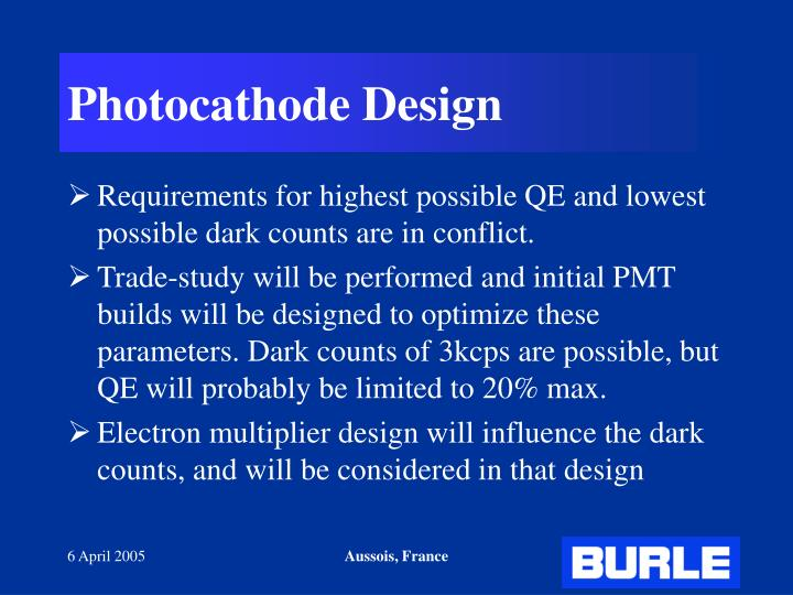 Photocathode Design