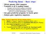 predicting genes basic steps