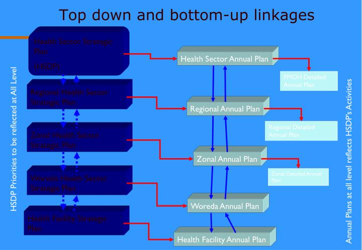Top down and bottom-up linkages