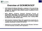 overview of gcn mcn scf
