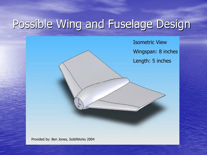 Possible Wing and Fuselage Design
