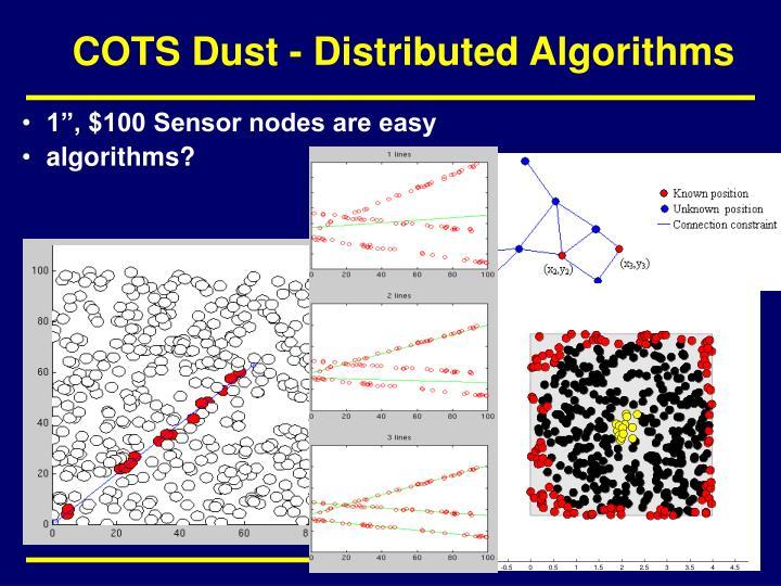 COTS Dust - Distributed Algorithms