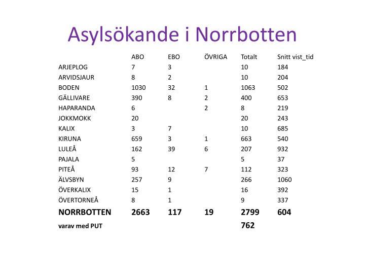 Asylsökande i Norrbotten