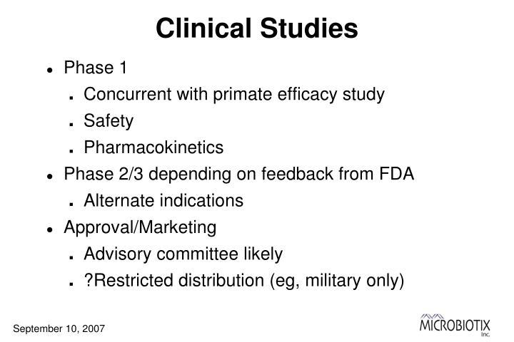 Clinical Studies