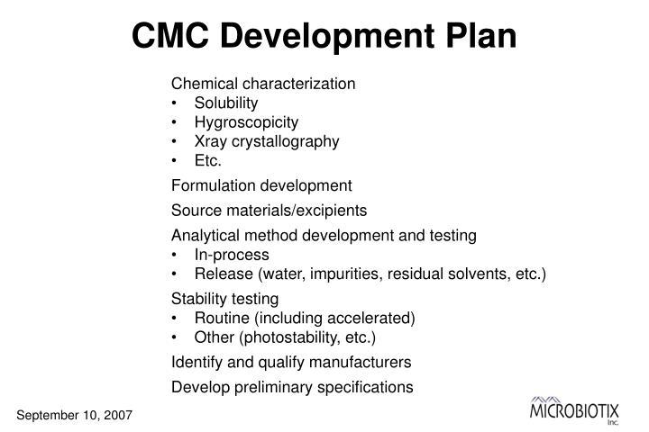 CMC Development Plan