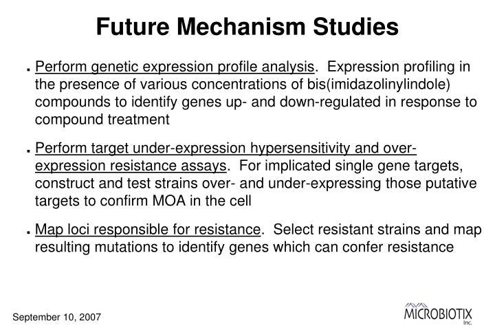 Future Mechanism Studies