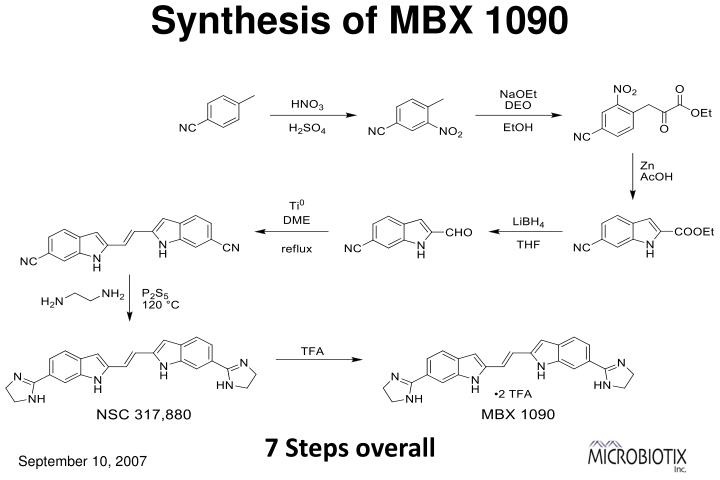 Synthesis of MBX 1090