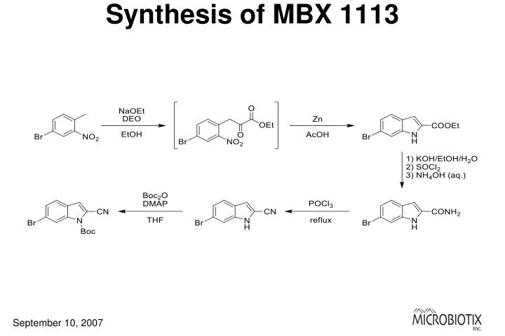 Synthesis of MBX 1113
