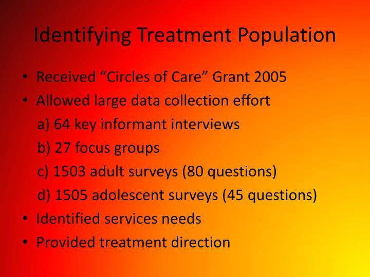 Identifying Treatment Population