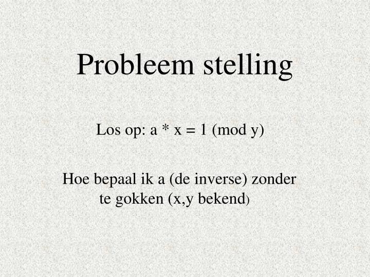 Probleem stelling