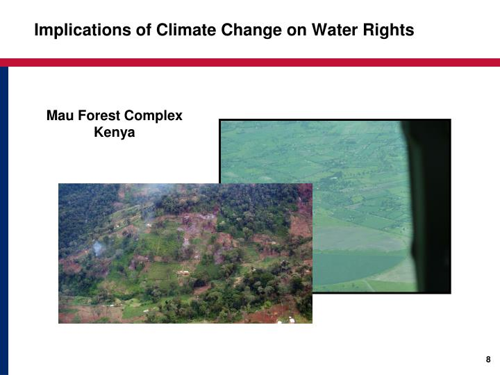 Implications of Climate Change on Water Rights