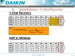 e specifications heat recovery