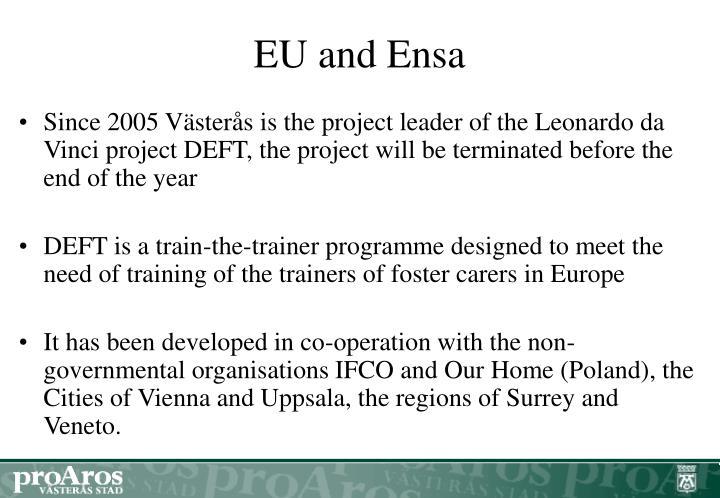 EU and Ensa
