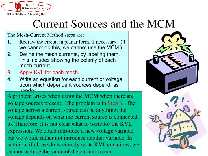 Current Sources and the MCM