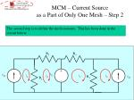 mcm current source as a part of only one mesh step 2