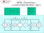 mcm current source as a part of only one mesh step 4