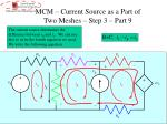 mcm current source as a part of two meshes step 3 part 9