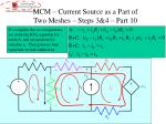mcm current source as a part of two meshes steps 3 4 part 10